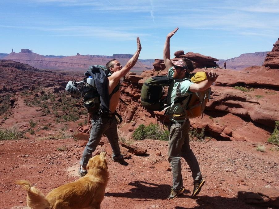 Moab Climbing High Five