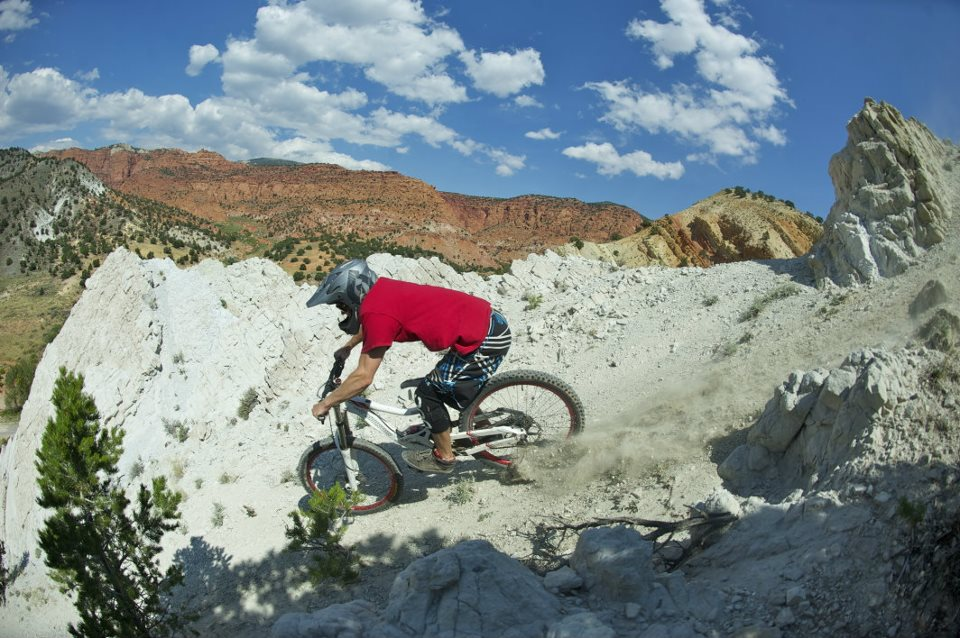Freeride Biking Capitol Reef Downhill JB