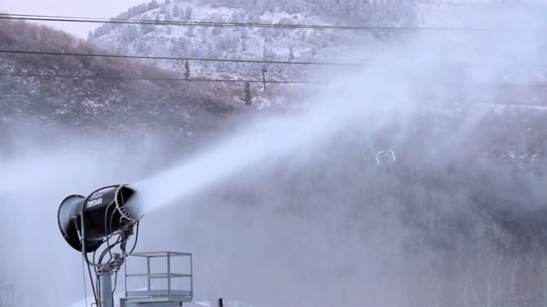 Snow Making Going Down at Park City Mountain Resort