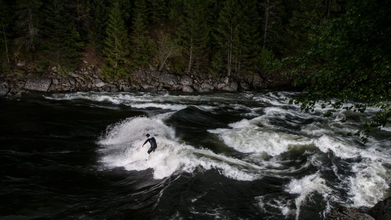 Whitewater Surfing Photography in the Idaho Wilds