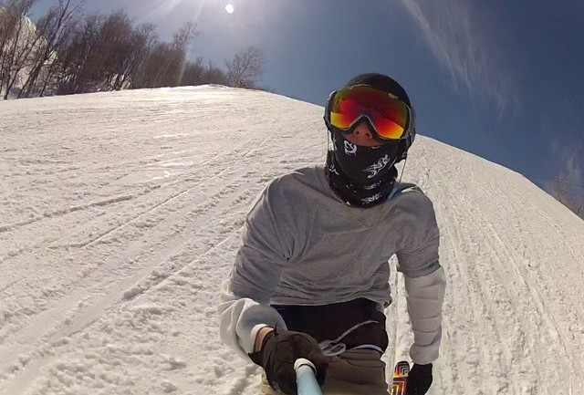 GoPro Selfie Excited for the Snow