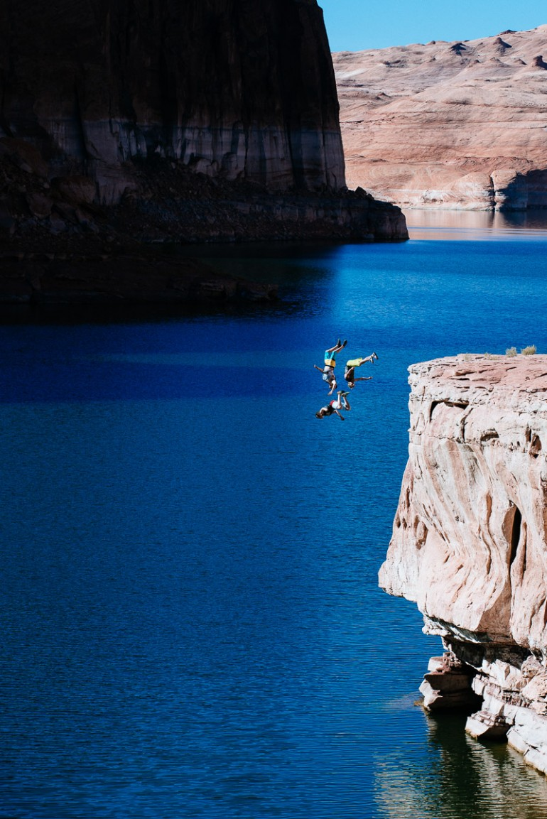 lake powell cliff jump