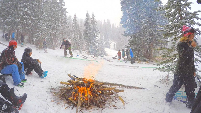 First snow bonfires, shredding jibs, and shredding jibs in Bonfires