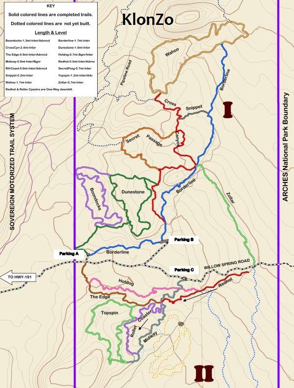 Moab Klonzo II Trail
