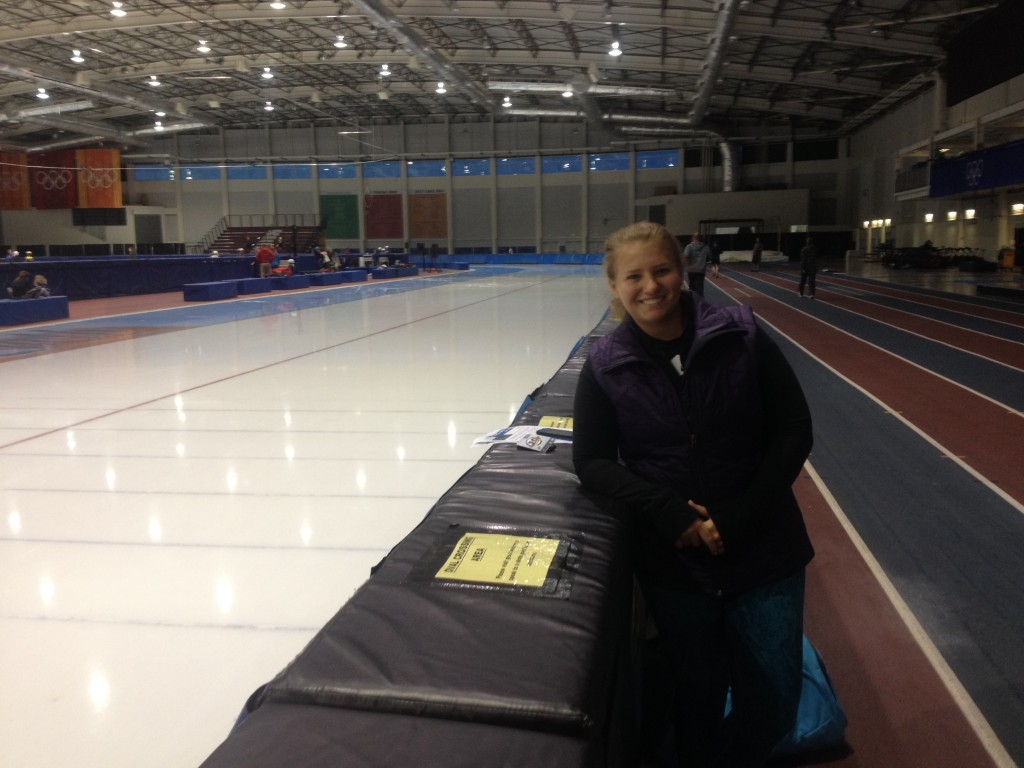 utah olympic skating oval - jacky hallett