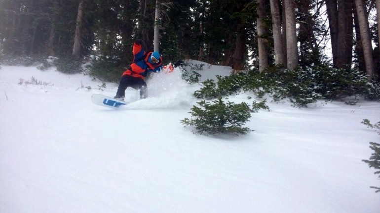 First Turns of '14/'15 Season in Little Cottonwood Canyon
