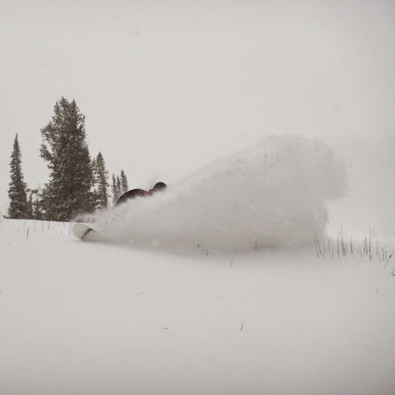 First Pow Slash of the Season - Snowbird 2014