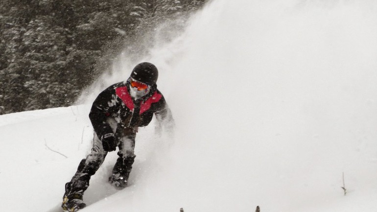 First Real Pow Slashes of The Season