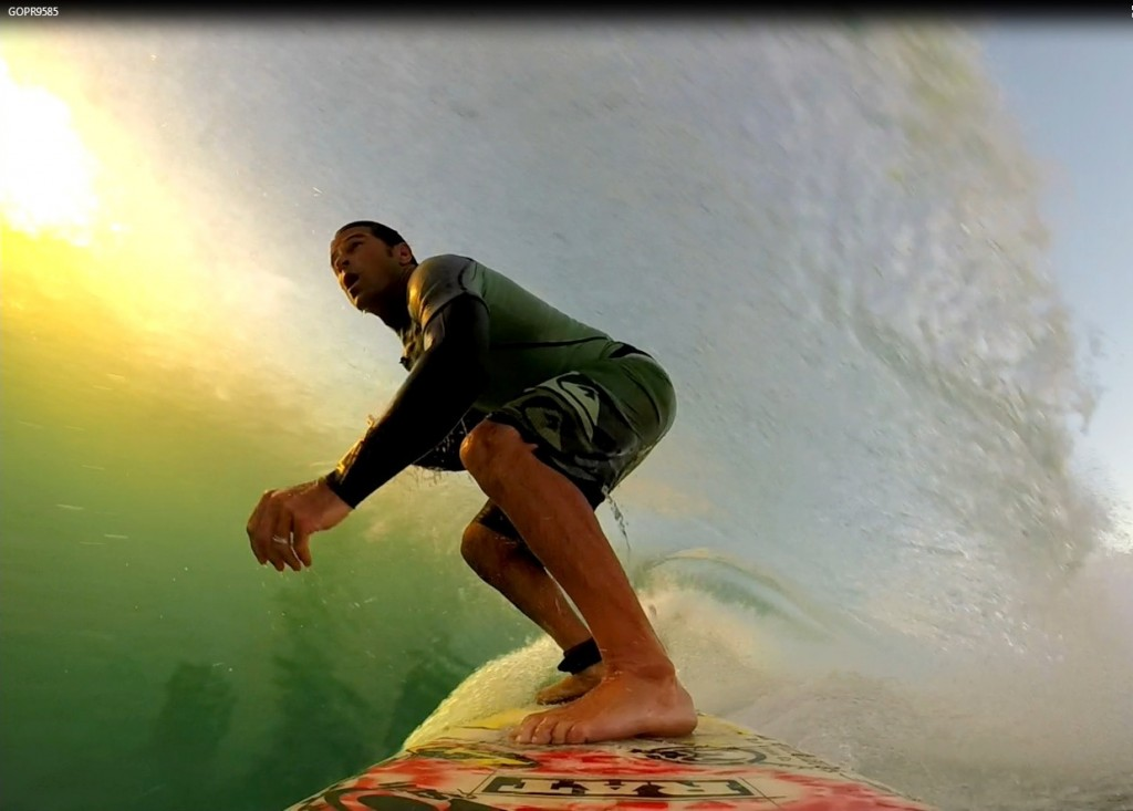 surfing gopro from california