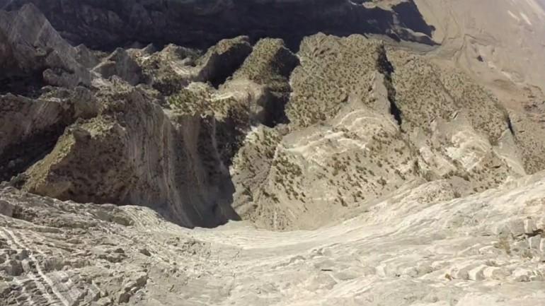 Wingsuit Flying in a December Desert