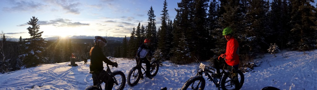 Hinton Alberta Canada Winter Magic Fat Bike - Apres Race ride with the boys