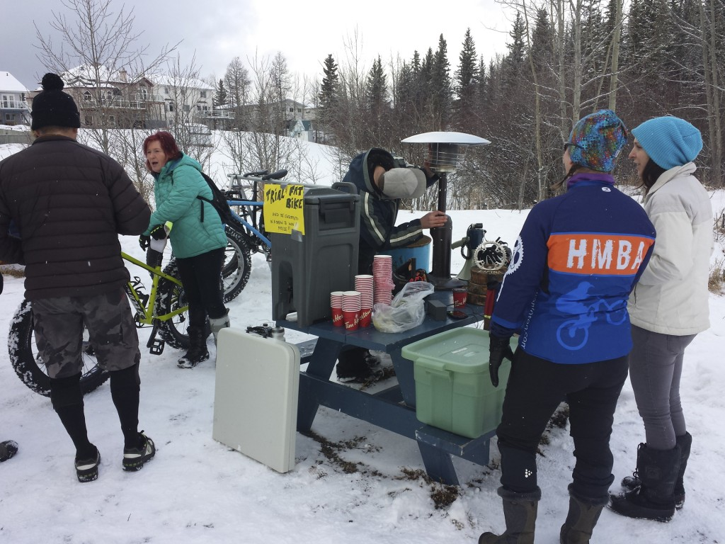 Hinton Alberta Canada Winter Magic Fat Bike - setup 2